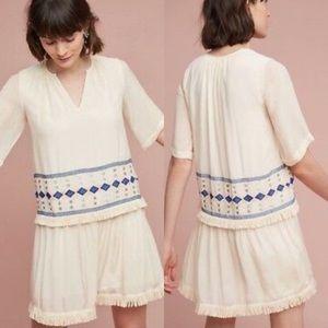Anthro Pepin Geo Fringe Tunic Short Sleeve Dress 2
